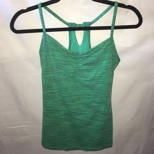 LUCY Green space dyed yoga tank top MEDIUM